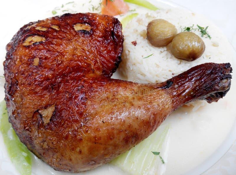 Arroz cocido del pollo imagen de archivo libre de regalías
