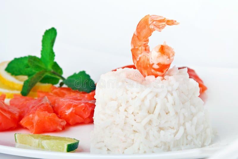 Arroz com camarão imagens de stock royalty free