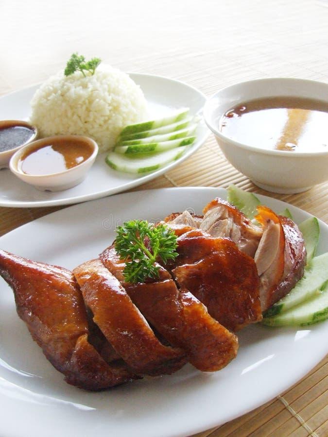 Arroz da galinha de Ásia imagem de stock royalty free
