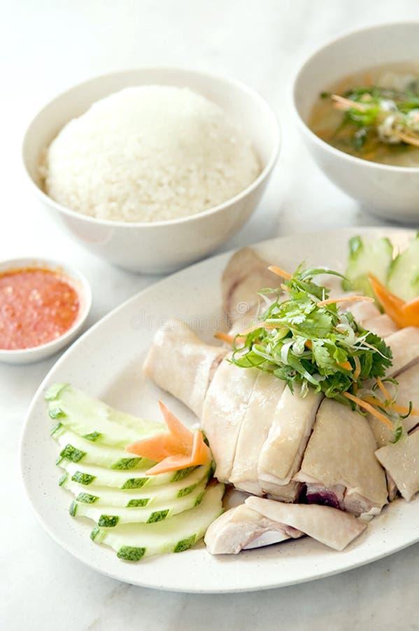 Arroz da galinha de Hainanese fotos de stock royalty free