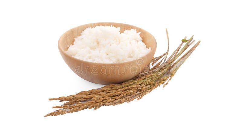 Arroz de arroz aislado en el fondo blanco fotografía de archivo libre de regalías