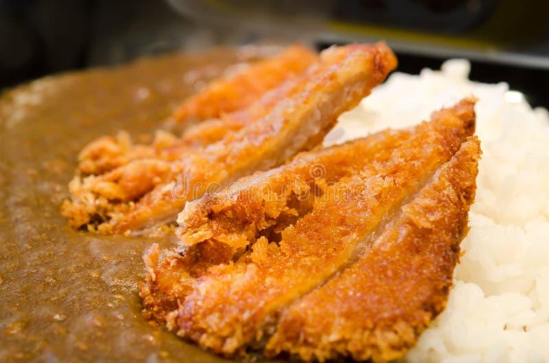 Arroz de curry de Katsu foto de archivo