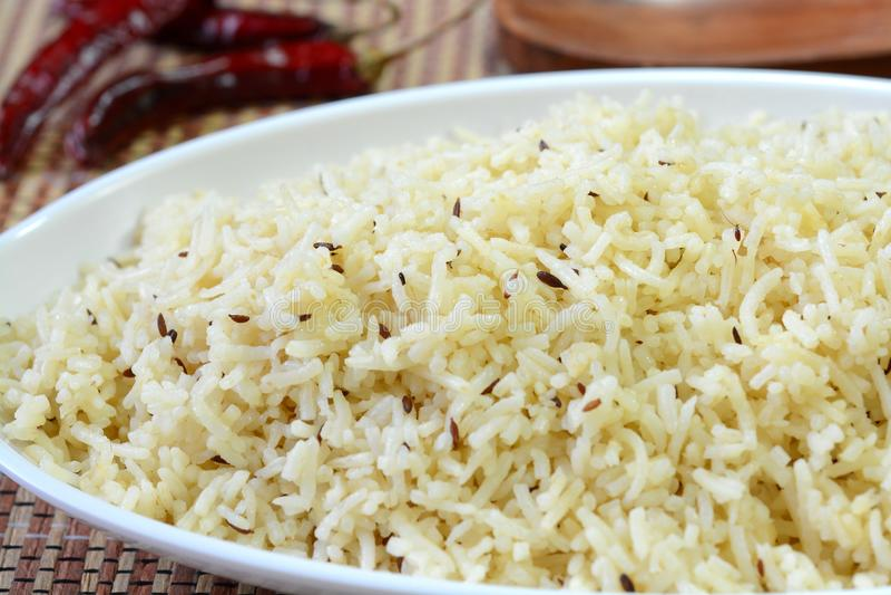 Arroz de Jeera ou arroz do cominhos imagens de stock royalty free