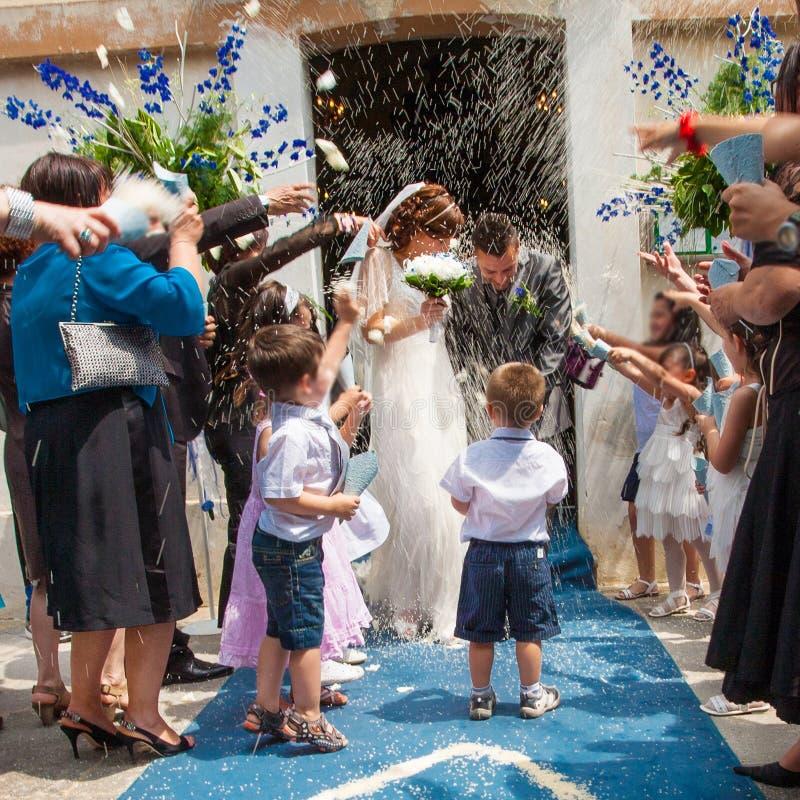 Arroz de la boda imagen de archivo libre de regalías