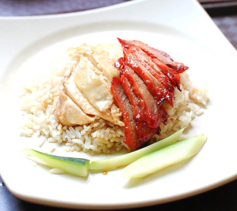 Arroz del pollo de Hainan del arroz del pollo imagen de archivo libre de regalías