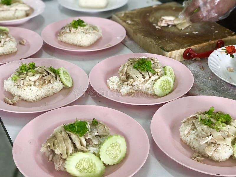 Arroz del pollo de Hainanese foto de archivo libre de regalías