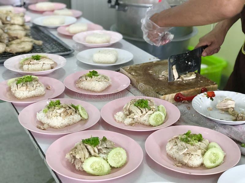 Arroz del pollo de Hainanese imágenes de archivo libres de regalías