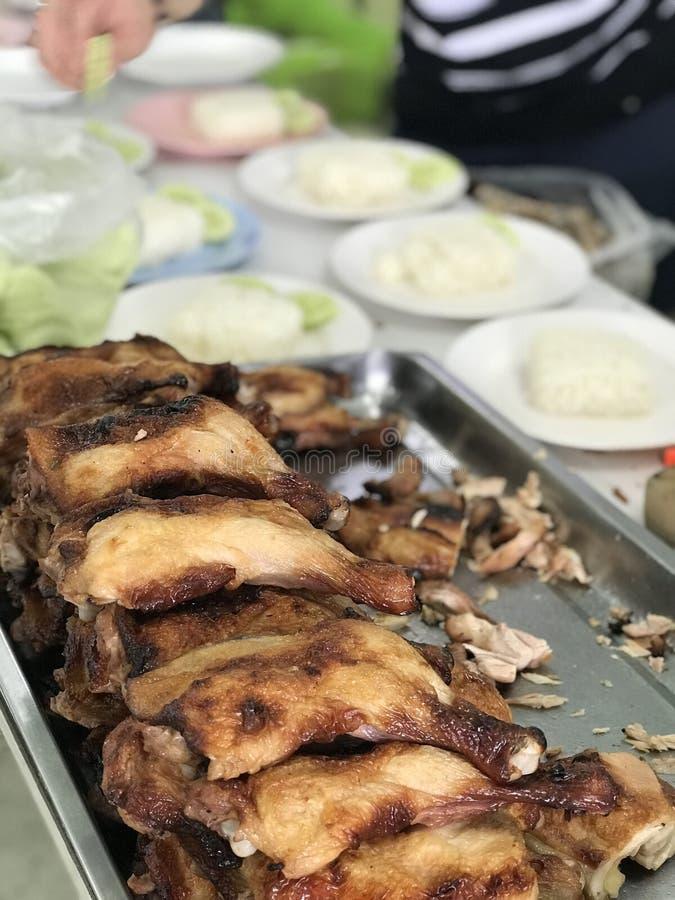 Arroz del pollo de Hainanese fotografía de archivo