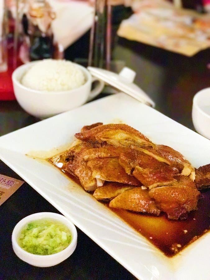 Arroz del pollo de la soja de Hong Kong imagen de archivo libre de regalías