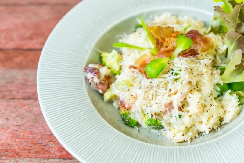 arroz del risotto con tocino foto de archivo libre de regalías
