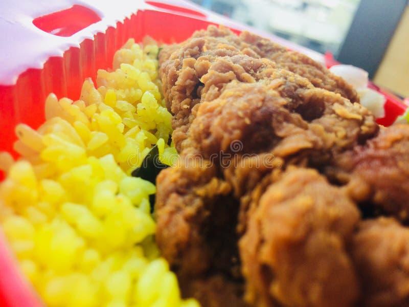 Arroz delicioso de Biriyani del pollo fotografía de archivo libre de regalías
