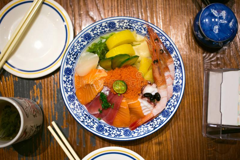 Arroz do Sashimi imagem de stock royalty free