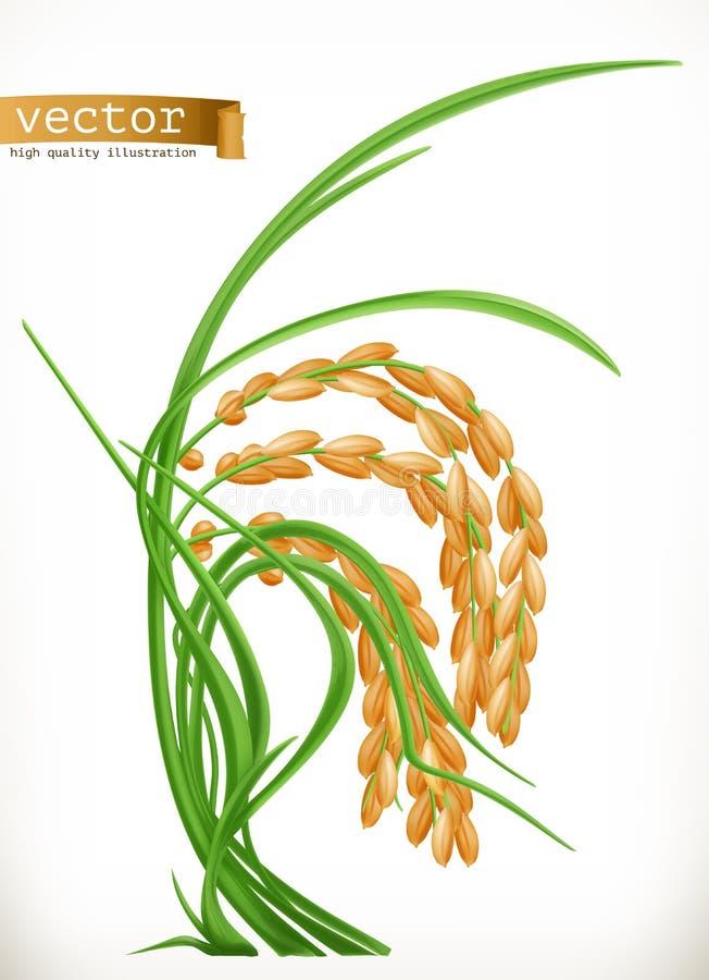 arroz Engrena o ícone ilustração stock