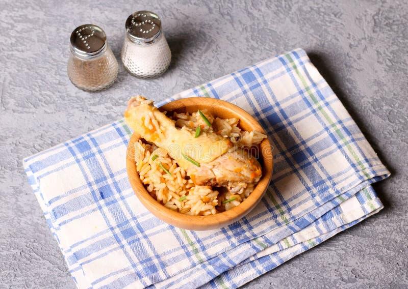 Arroz fritado da galinha biryani/Hyderabadi Biriyani/ imagem de stock royalty free