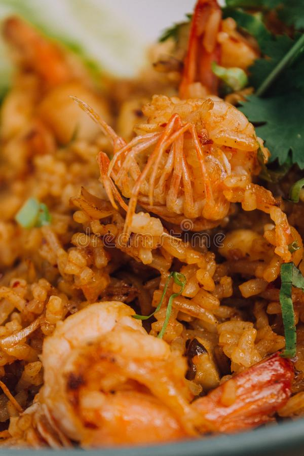 Arroz fritado de Tom Yum foto de stock royalty free