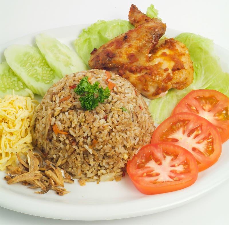 Arroz fritado Parte de uma série de nove pratos asiáticos do alimento imagem de stock royalty free
