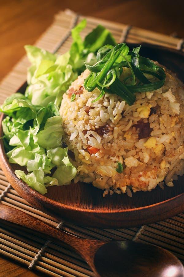 Arroz frito asiático foto de archivo libre de regalías