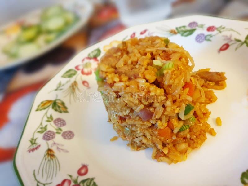 Arroz frito Chino. Cocina, amarillo, food, culinaria, image,Picture, imagepicture, plato, arte royalty free stock photo