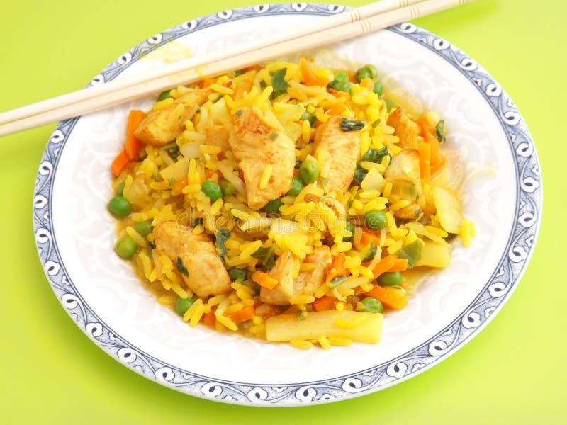 Download Arroz frito con el pollo foto de archivo. Imagen de arroz - 42427428