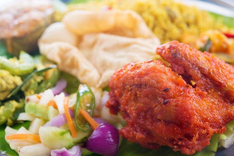 Arroz indio del pollo del biryani imagen de archivo libre de regalías
