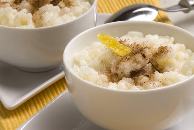 arroz lurar lechepuddingrice royaltyfri bild