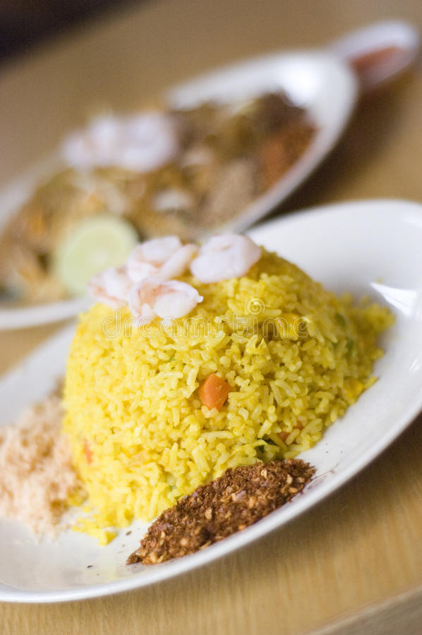 Arroz tailandês do abacaxi do alimento fotos de stock royalty free