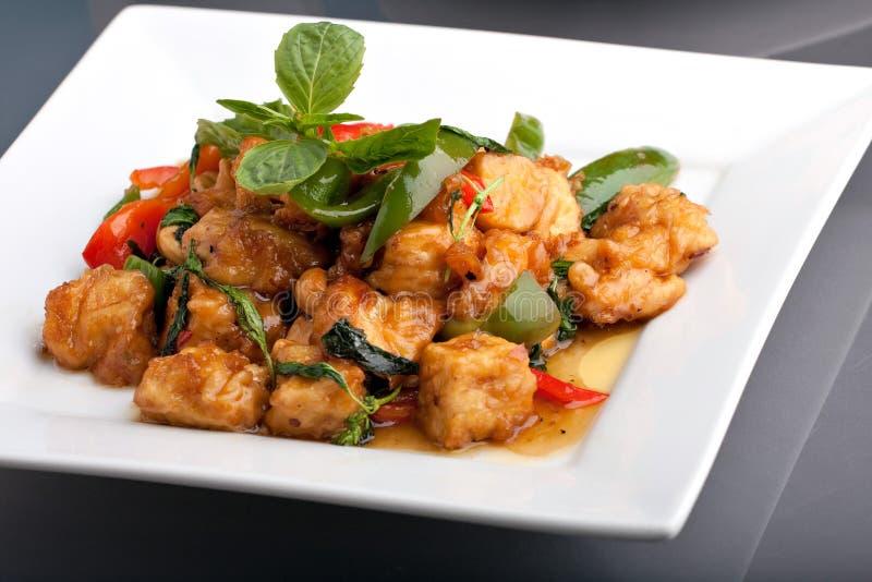 Arroz tailandês do alimento e do jasmim foto de stock