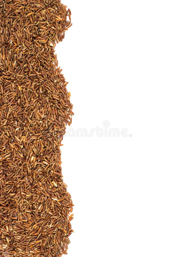Arroz vermelho ou Riceberry imagem de stock royalty free