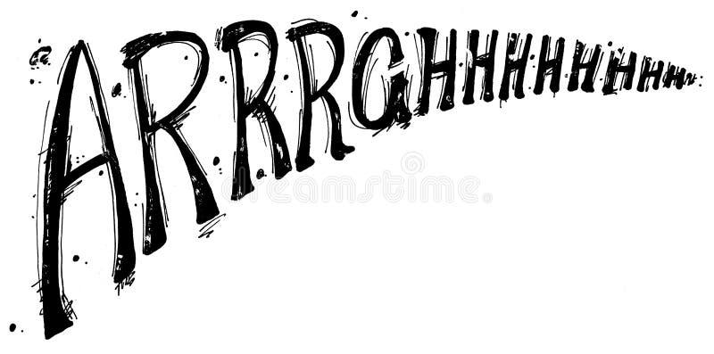 arrrghhh διανυσματική απεικόνιση