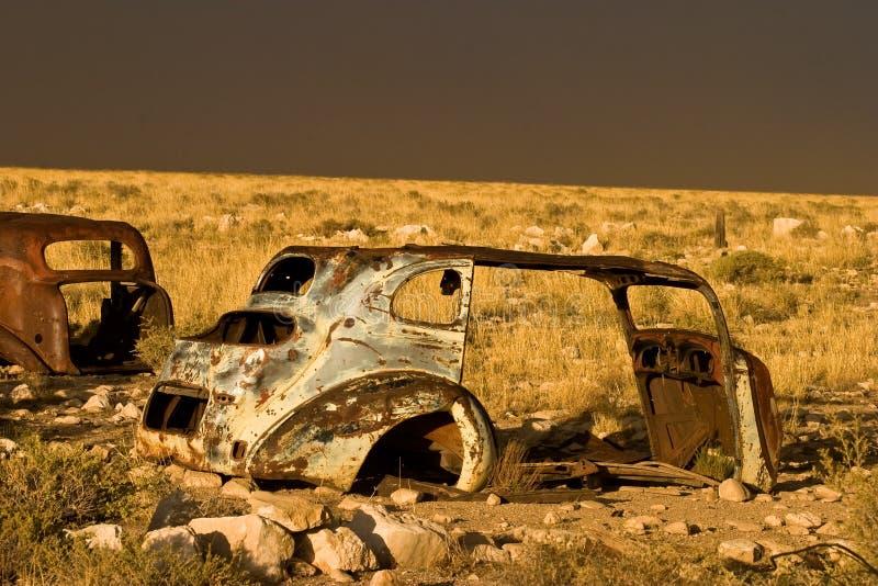 Arrugginendo nel deserto immagini stock