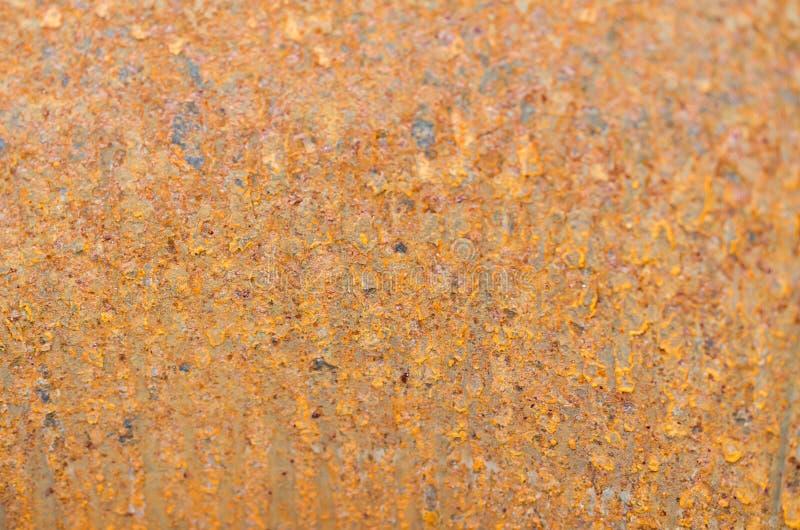 Arrugginisce il fondo metallico arancio fotografie stock libere da diritti