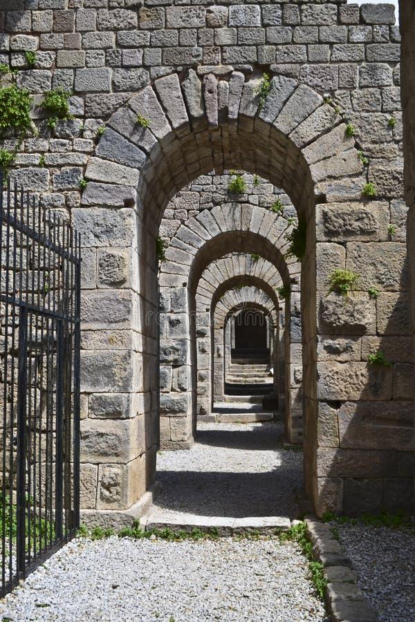 Arruina a cidade Pergamon do grego clássico imagens de stock royalty free