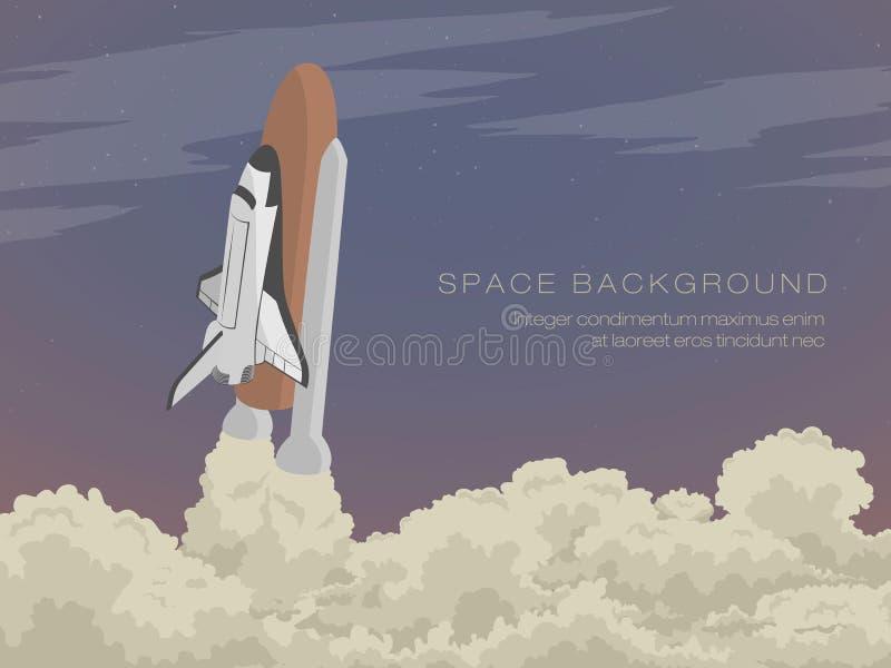 Arruine apagado la lanzadera de la plataforma de lanzamiento libre illustration