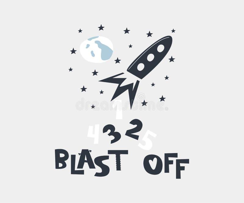 Arruine apagado Lanzamiento del eje de balancín ilustración del vector