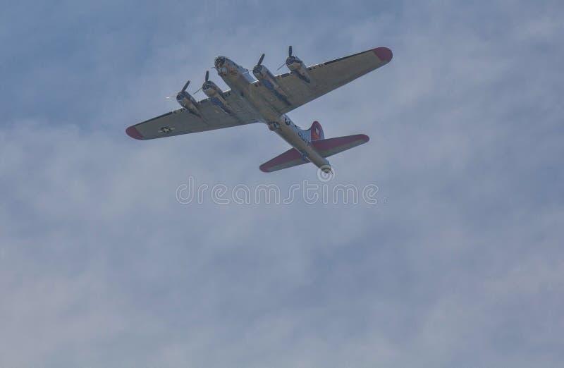 Arsenał demokracja--B-17 Latająca Forteczna bombowiec zdjęcie stock