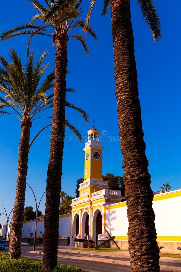 Arsenaal van Cartagena Murcia XVIII eeuw Spanje royalty-vrije stock foto