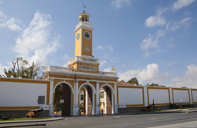 Arsenal av Cartagena royaltyfri fotografi