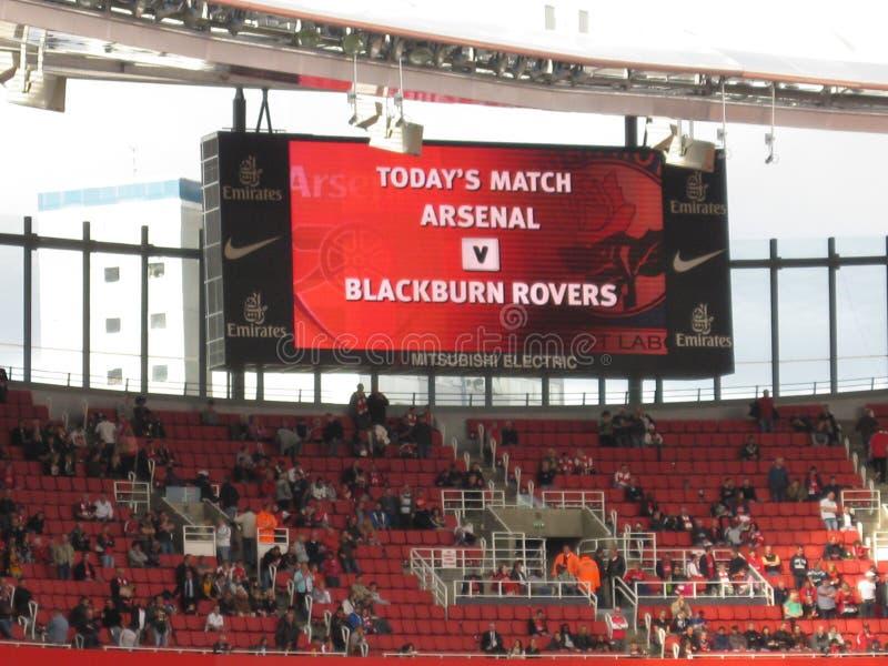 Arsenal-Blackburn image stock