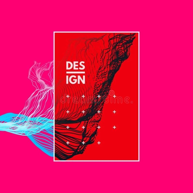 Arsenal con las partículas dinámicas Fondo ondulado Composición con efecto del movimiento libre illustration