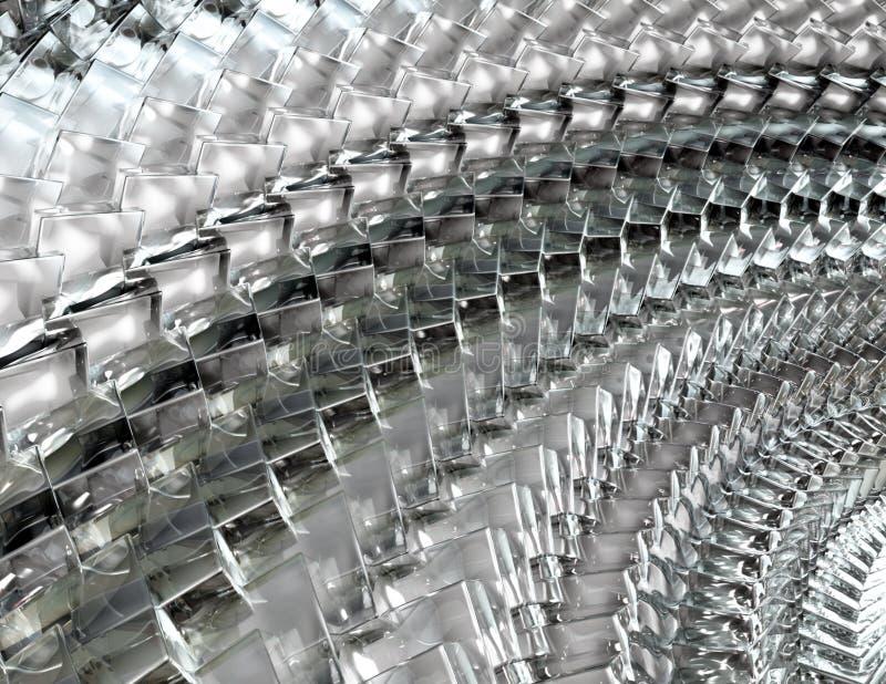 Arsenal de cristal de los cubos - fondo abstracto fotografía de archivo libre de regalías