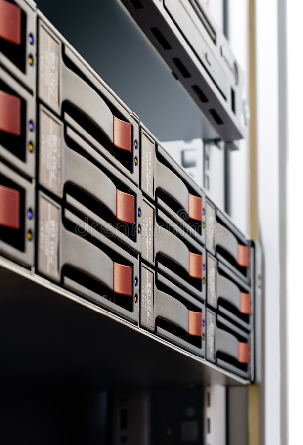 Arsenal de disco Rack-mounted fotografía de archivo libre de regalías