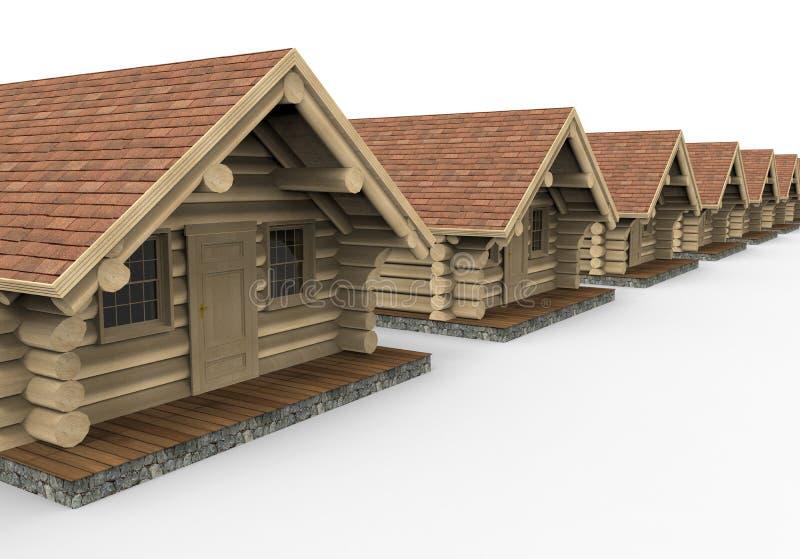 Arsenal de las cabañas de madera libre illustration