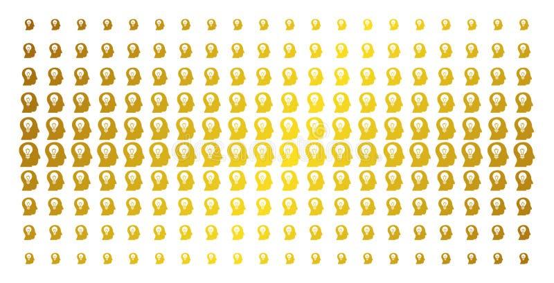 Arsenal de semitono de oro del bulbo del intelecto libre illustration
