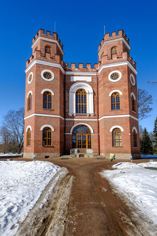 Arsenal del pabellón, (1834) Alexander Park, Pushkin, Rusia foto de archivo libre de regalías