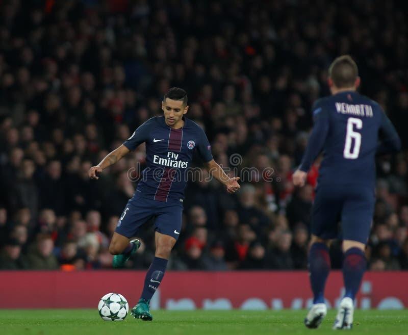 Arsenal FC v Paris St Germain - liga de campeões de UEFA imagem de stock royalty free