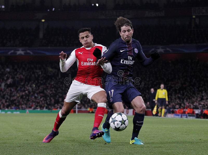 Arsenal FC v Paris St Germain - ligue de champions d'UEFA photo libre de droits
