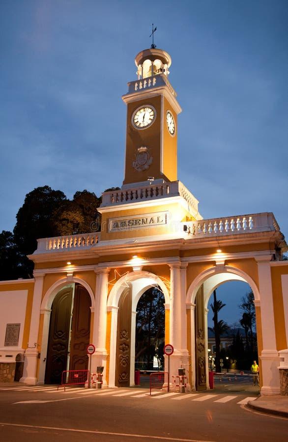 Arsenal Militar de Cartagena, Espanha fotos de stock royalty free