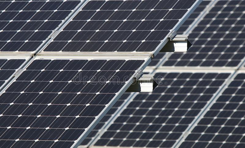 Arsenal solar en Beaverton, Oregon imagenes de archivo