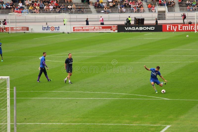 Arsenal Friendly Training Helsinki stock photos