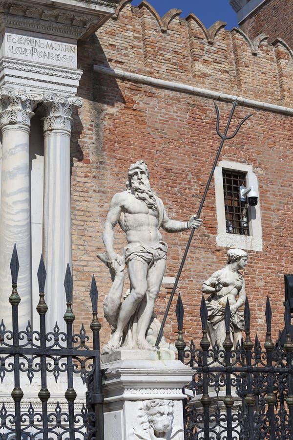 Arsenal veneciano, complejo de astilleros anteriores y arsenales, Venecia, Italia imagen de archivo